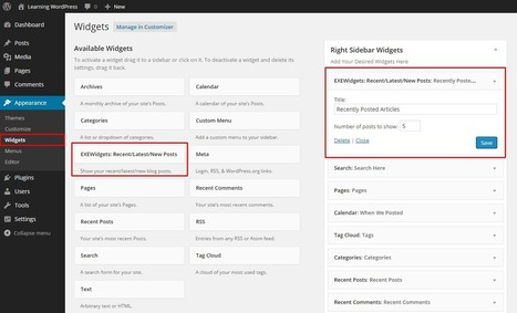 Add Recent/Latest/New Posts Widget In WordPress Without Any Plugin | EXEIdeas | Scoop.it