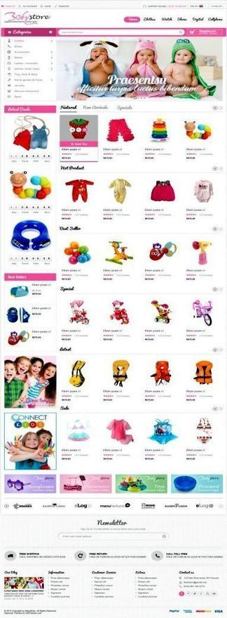 Opencart Baby Apparel Online Template – BabyShop   Premium iThemes   Themes & Templates   Scoop.it