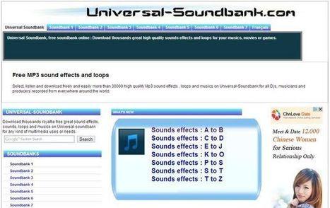 Universal Soundbank, más de 30000 sonidos y efectos de sonido gratis para descargar | TIC JSL | Scoop.it