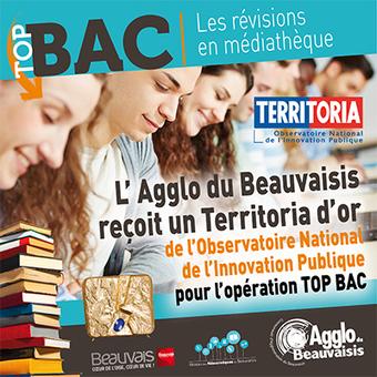 L'Agglo reçoit un Territoria d'or pour TOP BAC | Fier d'être beauvaisien | Scoop.it