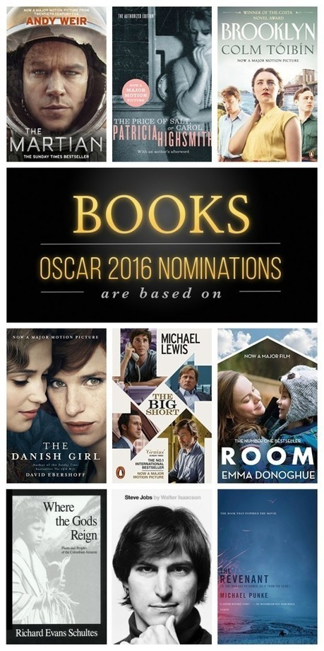 Nine Oscar 2016 nominations that are based on books | Librarysoul | Scoop.it