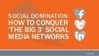 Social Domination: How to Conquer 'The Big 3' S... | B-Gina™ TechNews Report  - up and about | Scoop.it