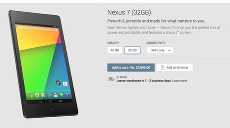 Google Nexus 7 2013 WiFi and LTE model now available in India on Google Play | PC Tablets | Scoop.it