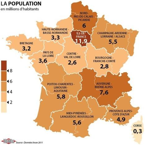 Quand l'Insee voit la NOUVELLE France à treize régions | URBANmedias | Scoop.it