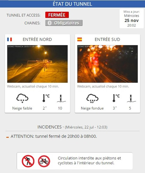 Chaines obligatoires pour accéder au tunnel de Bielsa | Vallée d'Aure - Pyrénées | Scoop.it