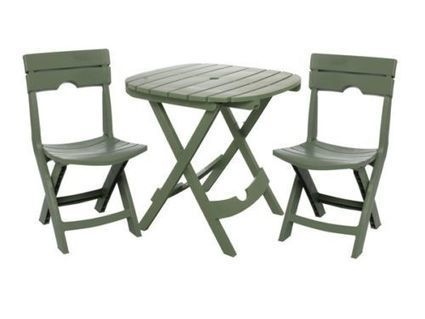 Outdoor Patio 3 Piece Bistro Furniture Set Camping Picnics Tailgating Cafe Sage | Home and Business | Scoop.it