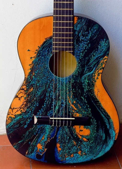 #Painted #Guitars | Le It e Amo ✪ | Scoop.it