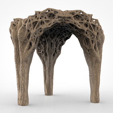 Daniel Widrig uses DIY 3D printing process to produce pixellated stool   Digital design & fabrication   Scoop.it