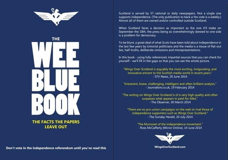 The Wee Blue Book | Independence for Scotland, It's Coming Soon! | Scoop.it