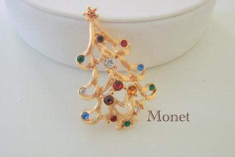Vintage MONET Christmas Tree Pin | Jewelry | Scoop.it