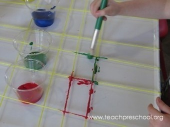 A super cool and unique idea for yarn painting | Teach Preschool | Scoop.it