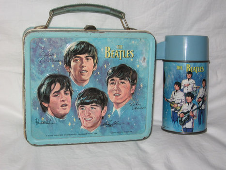 the beatles metal lunchbox and thermos | The beatles | Scoop.it