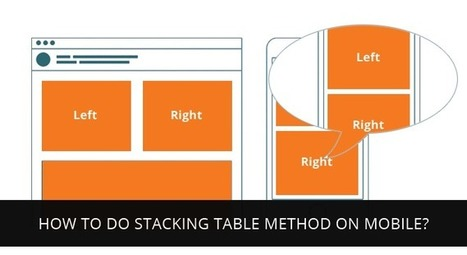 How to do stacking table method on mobile? - BrightLivingstone.com   Brightlivingstone.com   Scoop.it