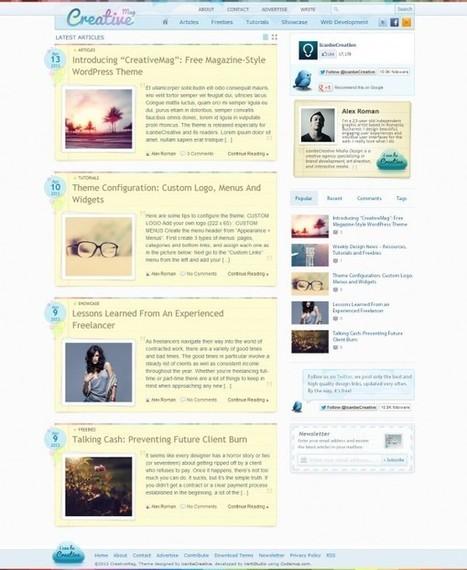 """CreativeMag"": Free Magazine-Style WordPress Theme - icanbeCreative | bestoftheweb | Scoop.it"