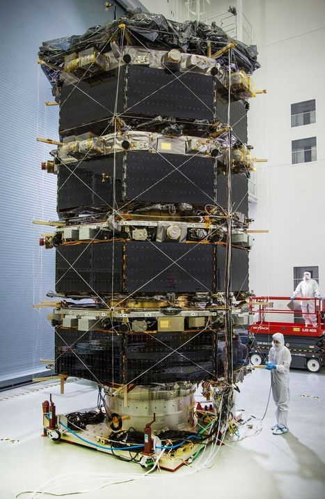 NASA's MMS observatories stacked for testing - Phys.Org | Telecom internet and space news | Scoop.it
