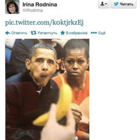 The Russian Skater Who Tweeted This Doctored Racist Picture of President Obama is Lighting Sochi's Olympic Flame | Daily Crew | Scoop.it