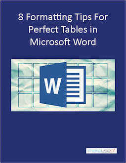 Free ebook: 8 Formatting Tips for Perfect Tables in Microsoft Word - Techtiplib.com | Giveaway, Coupon | Scoop.it