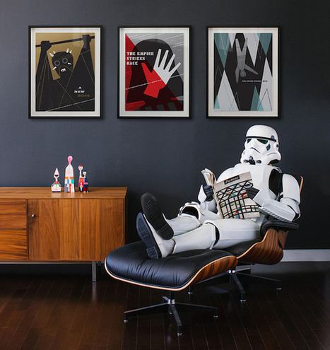 Famous Designer Recreates Classic 'Star Wars' Prints With Modern Design Elements | #Design | Scoop.it