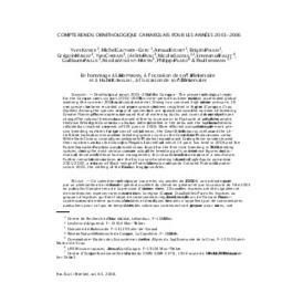 Compte-rendus ornithologiques Camargue 2001-2006 | Camargue Nature