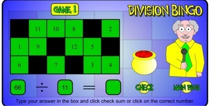 Division Bingo | Maths for K-3 students | Scoop.it