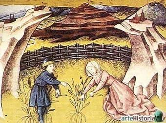 Imágen de mujeres junto a sus hijos en las tareas agrícolas. | Mujer En La Época Medieval | Scoop.it