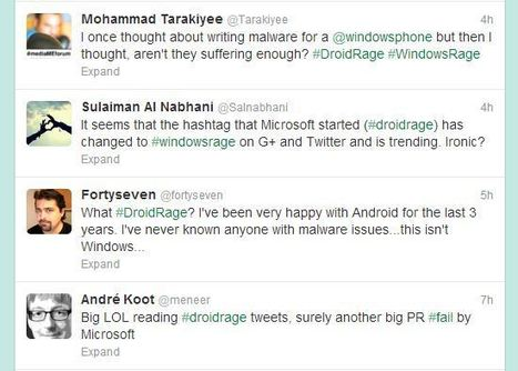 Microsoft's #DroidRage Twitter campaign not going as planned, users complaining about #WindowsRage | Beta centered, Technology and Microsoft news focused | Scoop.it