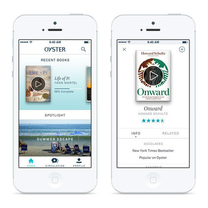 Oyster, a Spotify/Netflix-Like Service for E-Books Launches, Is the Library Community Preparing for These Types of Services? | LJ INFOdocket | Bibliothèques | Scoop.it