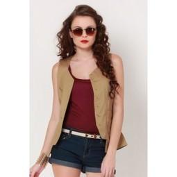 Smart Beige Cut Waist Coat   Online shopping for women   Scoop.it