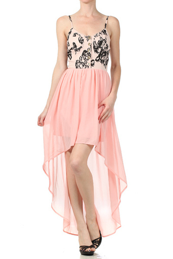 Tallie- High Low Chiffon Bustier Dress | Rent The Dress | Scoop.it