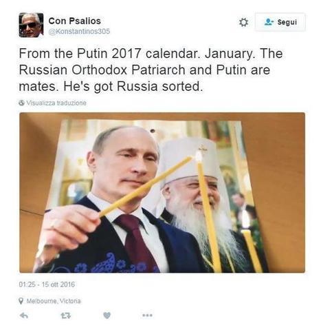 Esce il calendario 2017 di Putin: la rete impazzisce e pubblica i primi fotomontaggi - Tgcom24 | fotomontaggi | Scoop.it