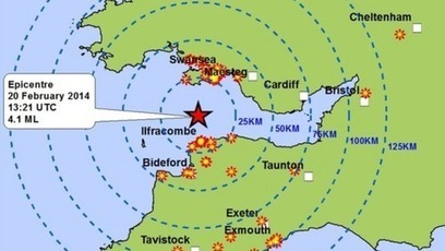 4.1 magnitude earthquake felt across South-West Britain | Geography in the news | Scoop.it