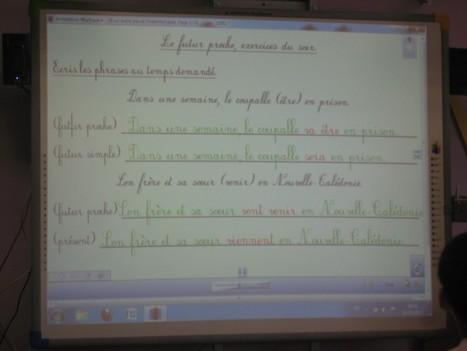 Nouméa : une école numérique! TNI et boîtiers de réponse en CE2, exercices de conjugaison. | Usages des solutions eInstruction | Scoop.it