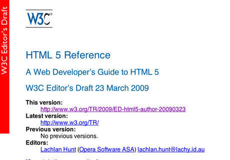 7 Useful Resources to Help You Learn HTML5 | Resources | Webprogramming | Scoop.it