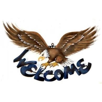 Welcome Eagle Sign Wall Art | Raised Talavera Flowerpot | Scoop.it