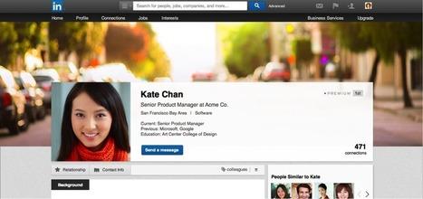Les profils #LinkedIn s'offrent un nouveau #design | Sphère des Médias Sociaux | Scoop.it