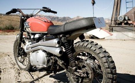 Triumph Bonneville T100 /desert scrambler | Vintage Motorbikes | Scoop.it