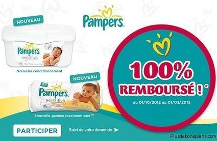 Lingettes Pampers 100% remboursées | Codes à foison | Scoop.it