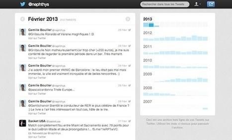 Vous pouvez désormais télécharger l'archive de vos tweets dans la version française de Twitter   kelly rowland lover   Scoop.it