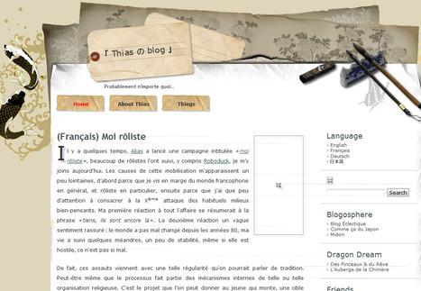 Thias の blog : Moi rôliste | Jeux de Rôle | Scoop.it