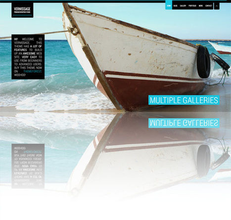 Vernissage, WordPress Premium FullScreen Portfolio Theme | WP Download | Responsive WP Theme | Scoop.it