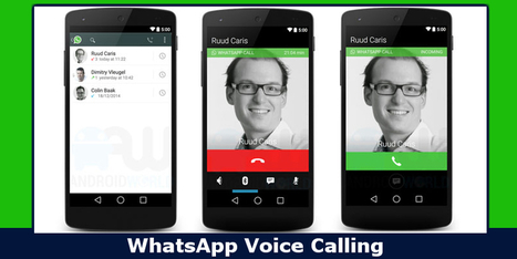 Finally WhatsApp Offers Voice Calling For Android Users, iOS Coming Soon | All Mobile App Development Mart | Scoop.it