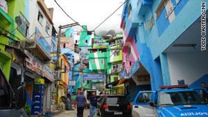 Rio slum transformed into canvas bursting with color | Brazilian Favelas: The Economic, Political, Social Impact | Scoop.it