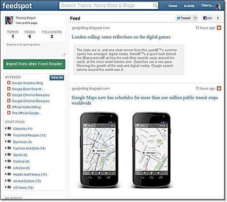 Feedspot.com : le réseaux social des flux d'actualités | Smartphones et réseaux sociaux | Scoop.it