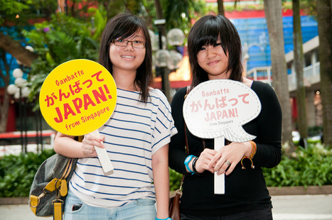 [Photo] Solidarité à Singapour - Ganbatte Japan | Flickr - Photo Sharing! | Japon : séisme, tsunami & conséquences | Scoop.it