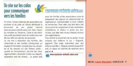 On parle de vacances enfants ados sur Loisirs Education dans le n° de mars ! | Vacances Enfants Ados | Scoop.it