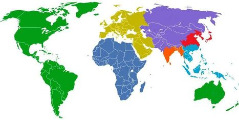 The world divided, 1 billion people per colored... - Maps on the Web   Geography   Scoop.it