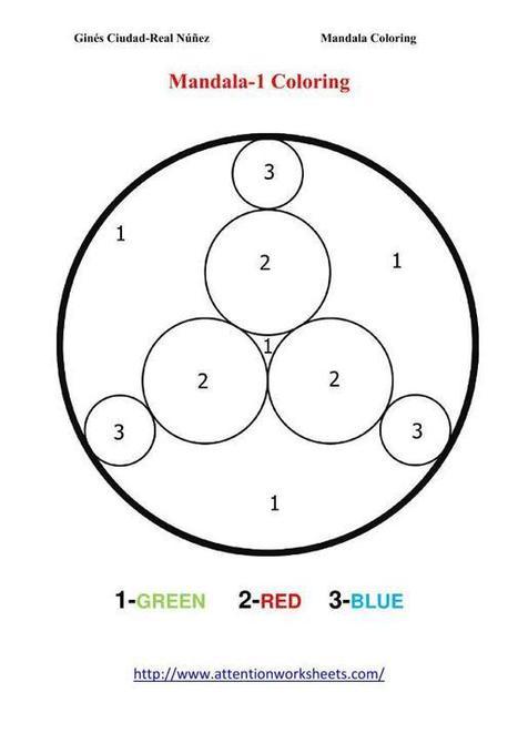 Mandala coloring Kids activities | Attention Work Sheets | Materiales interesantes en ingles | Scoop.it