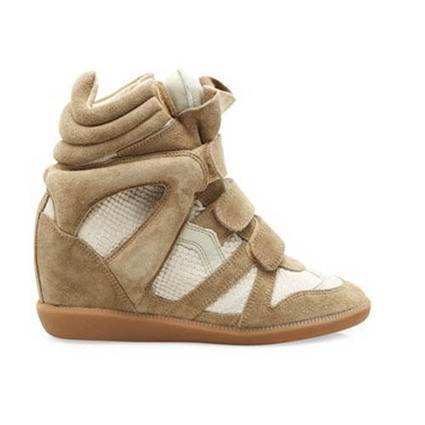 Upere Wedge Sneakers Suede Chestnut White - $193.29 | UPERE Wedge Sneakers Show | Scoop.it