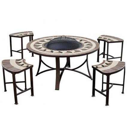 4 Seater Round BBQ Fire Pit Table - GardenMore | Grill reviews | Scoop.it