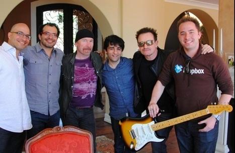 Dropbox signs superstars Bono, The Edge -- as investors | MUSIC:ENTER | Scoop.it